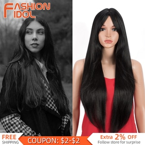 Anime Cosplay Black Wig Synthetic Gray Wigs Daily Use MIddle Part Long Straight Rainbow Hair 32 Inch Wig For Women FASHION IDOL