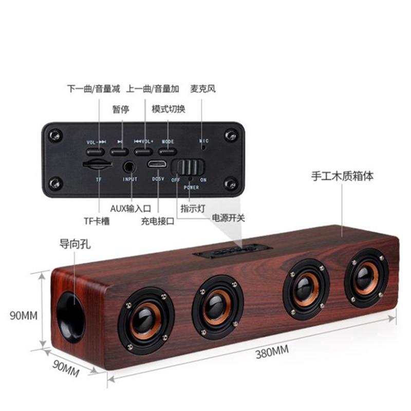 كبير مكبّر صوت خشبي الصوت بار بلوتوث نظام الصوت دفتر المتكلم للكمبيوتر هاتف الكمبيوتر المحمولة مكبر الصوت مضخم الصوت