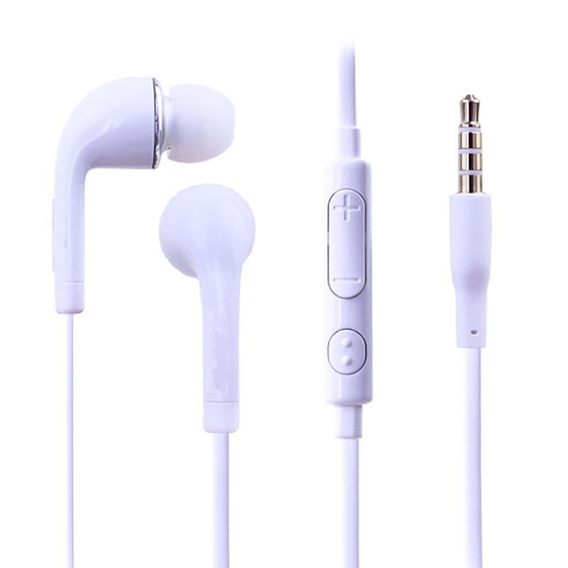 Fone de ouvido com som grave de 3.5mm, fone de ouvido esportivo com microfone para xiaomi, iphone, samsung, fone de ouvido mp3