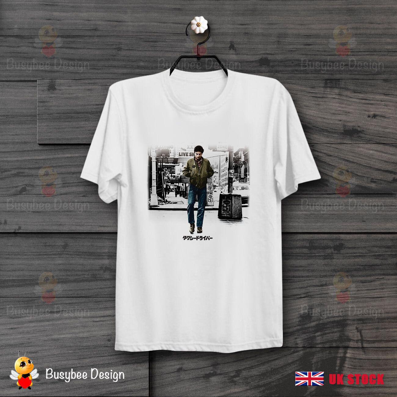 Póster De película De conductor De Taxi japonés De Niro 70S, camiseta Unisex De película Scorsese B102Cool Casual Pride, camiseta para hombres, moda Unisex
