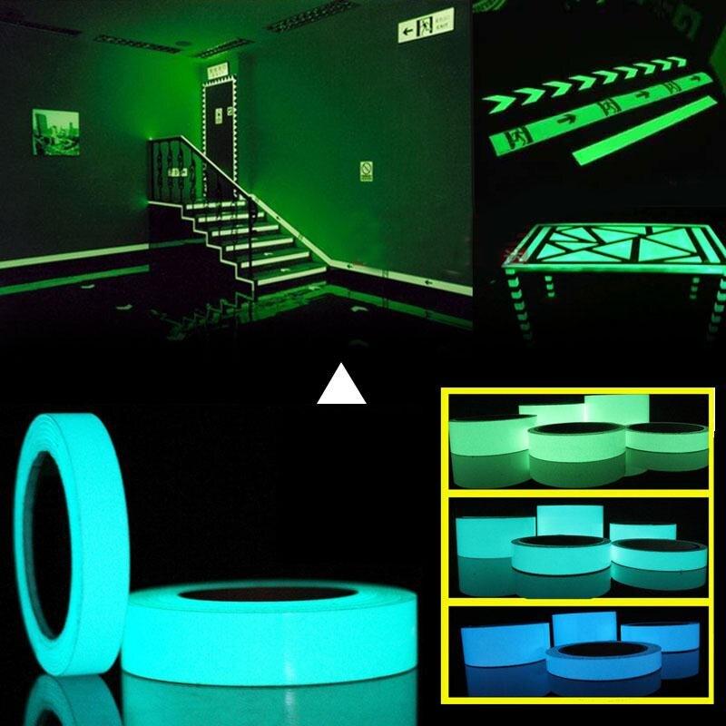 10 M * 10 milímetros Luminosa Fita Auto-adesiva Brilham No Escuro Adesivos Para Paredes de Segurança Sinal de Saída Fase visão noturna Casa Decoração Tape