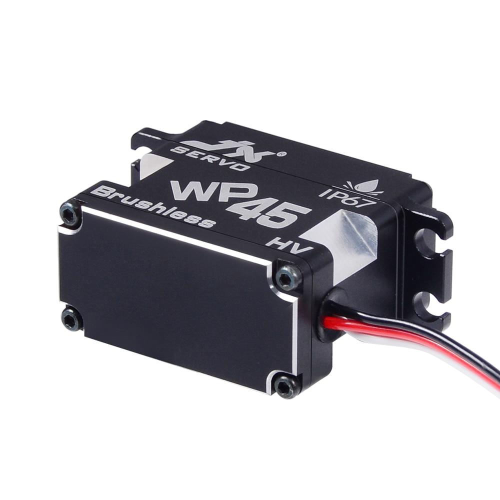 JX WP45 45KG Full  Waterproof Servo  IP67 Rated 8.4V  Steel Gear Brushless Servo for 1/8 1/10 Scale RC Car Boat Helicopter Robot enlarge