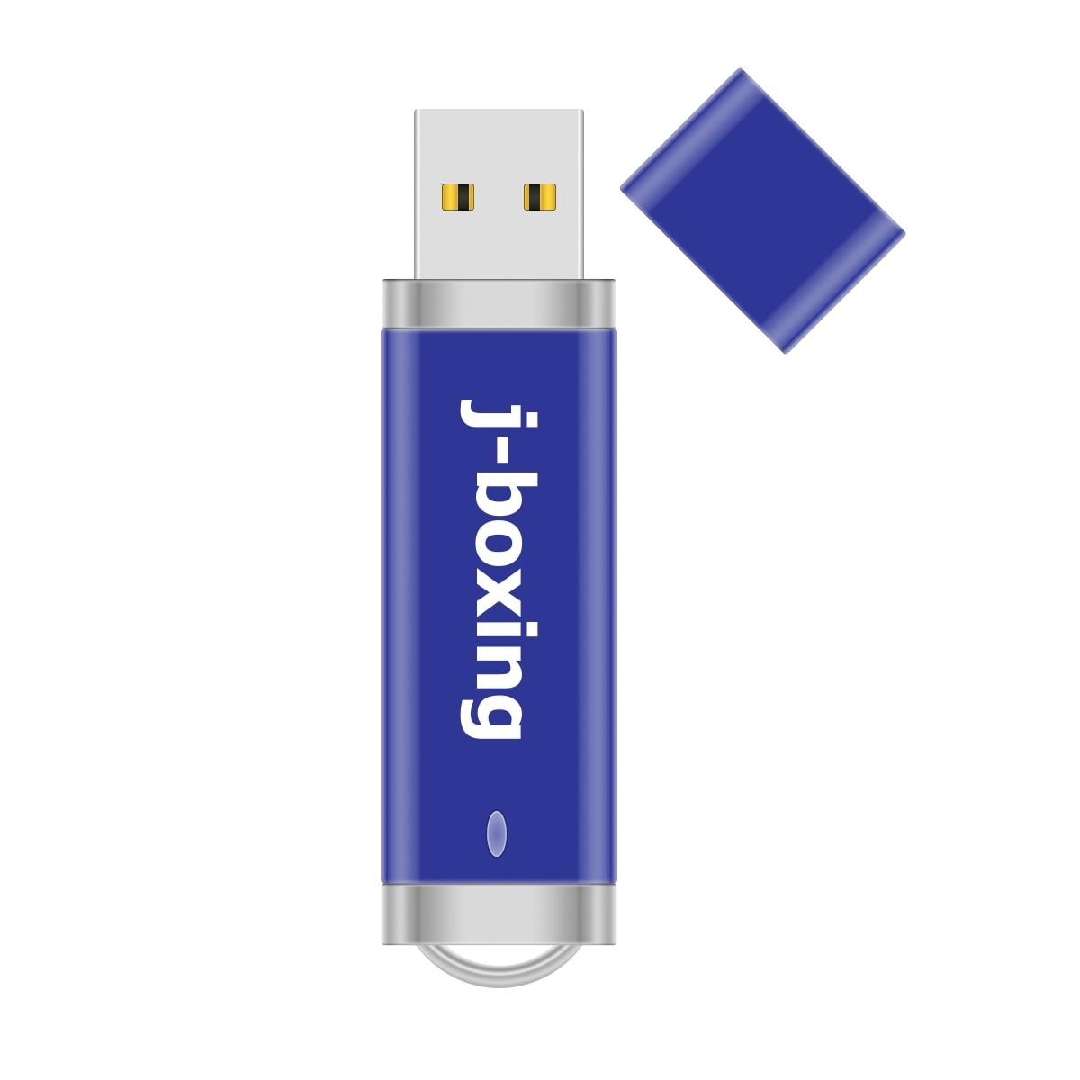 J-boxing 10PCS 64MB USB Flash Drives Bulk Small Capacity 128MB Lighter Design USB Memory Sticks Thumb Pendrives 256MB 512MB Blue enlarge