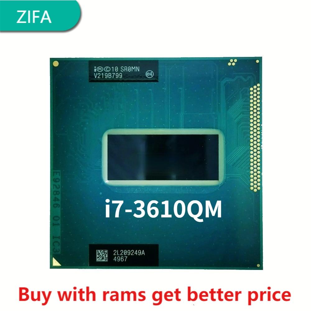 إنتل كور i7-3610QM i7 3610QM SR0MN 2.3 GHz رباعية النواة ثمانية موضوع معالج وحدة المعالجة المركزية 6 متر 45 واط المقبس G2 / rPGA988B