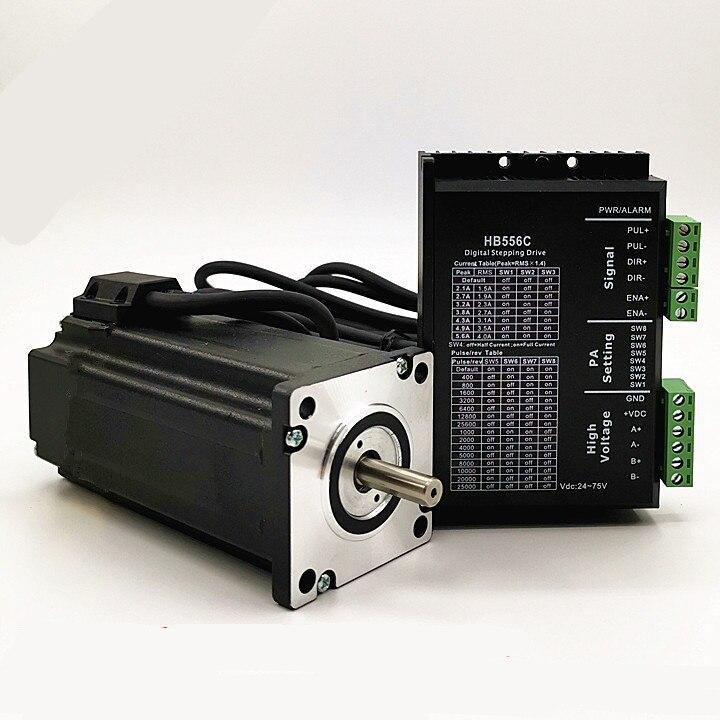 Nema 24 Motor paso a paso de 60BYG 1.6N.m/1.95N.m/4N m + Digital conductor HB556C