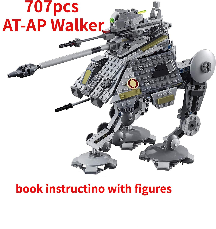 Andador de AT-AP MOC con figuras, Compatible con Star Serie de películas...