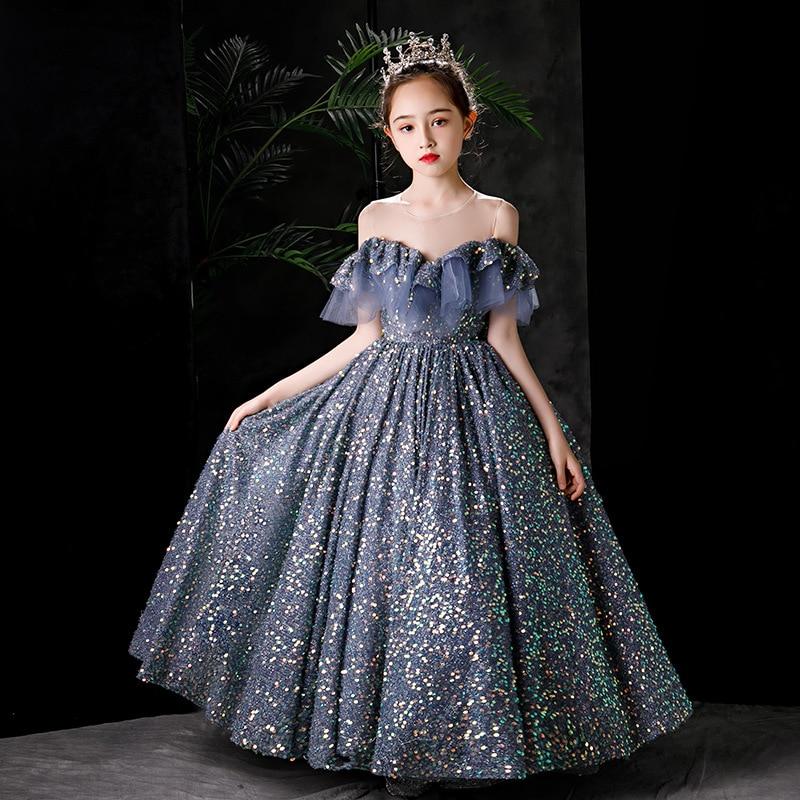 Summer 2021Princess Dresses GirlsChildren Clothes Prom Kids Birthday Party Halloween  Christmas  Wedding  Baptism High-end enlarge
