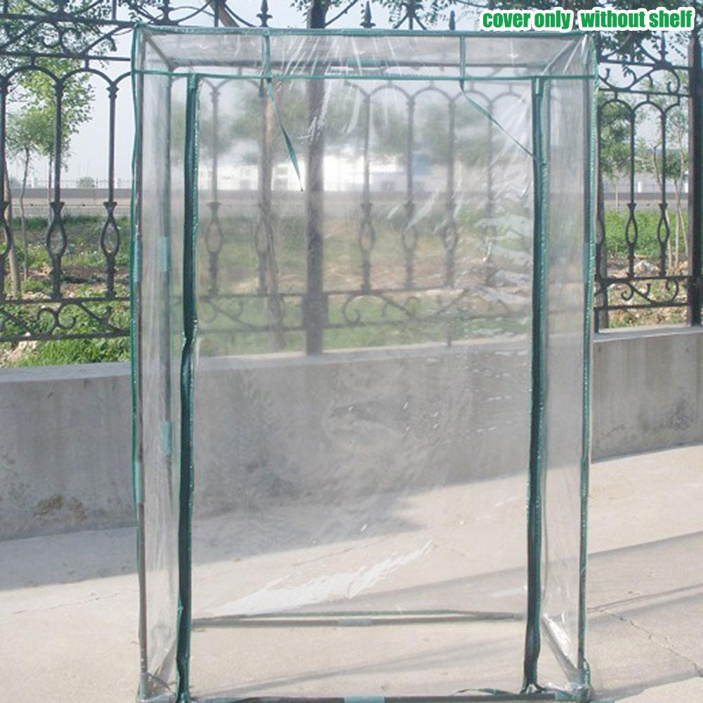 Cubierta de invernadero de PE de 100x50 x 150cm, invernadero de plantas para el hogar, tienda impermeable, cubierta de jardín (sin soporte de hierro)