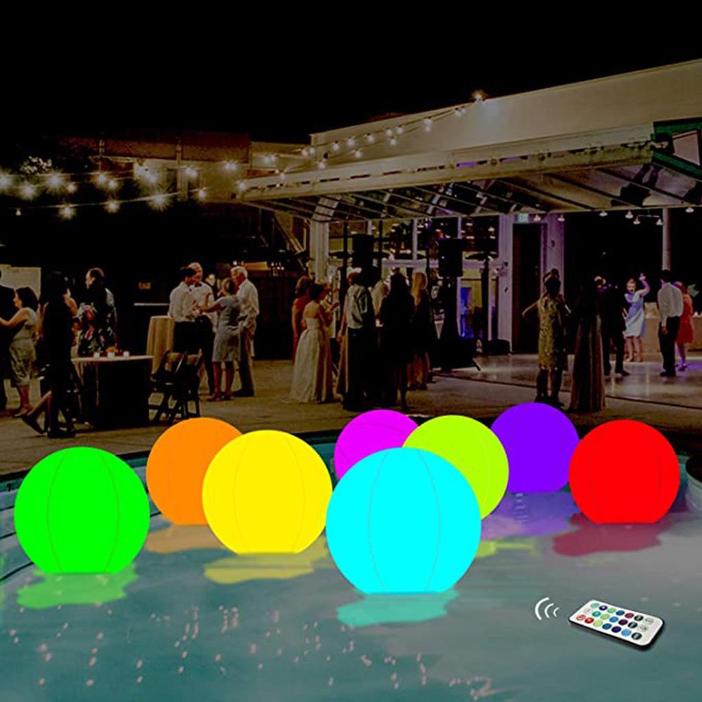 40 см светящийся мяч надувные светящиеся шарики светодиодные декоративные пляжный мяч из ПВХ для открытый бассейн спортивный инвентарь