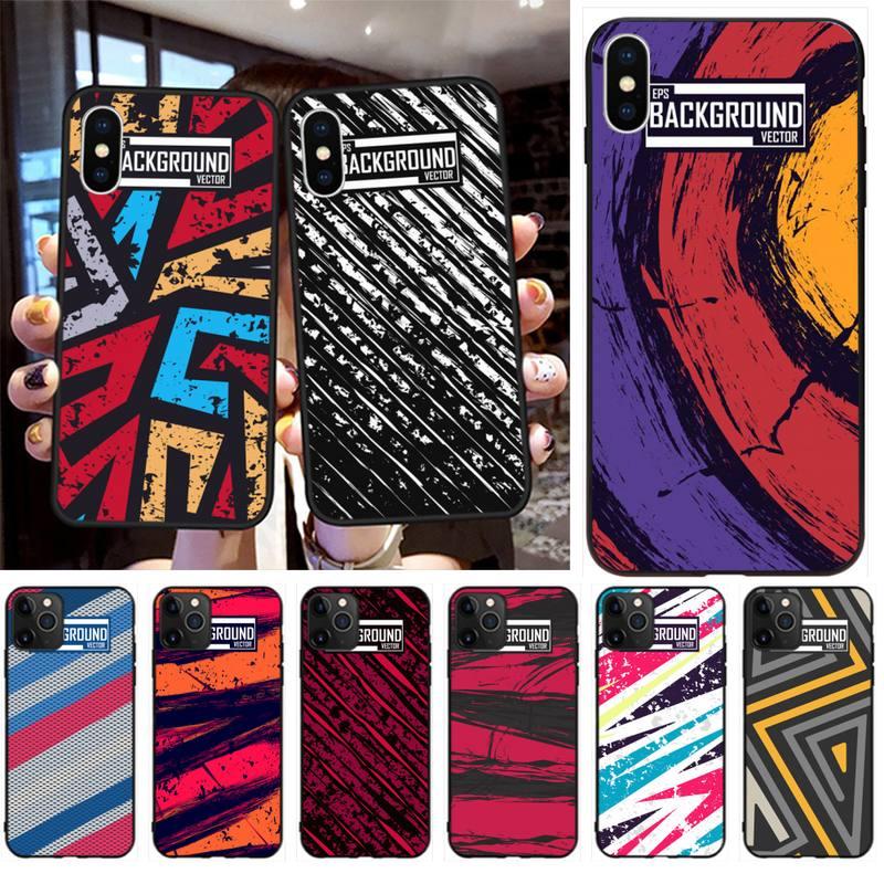 Funda de teléfono CUTEWANAN EPS de fondo abstracto de Coque para iPhone 11 pro XS MAX 8 7 6 6S Plus X 5S SE 2020 XR