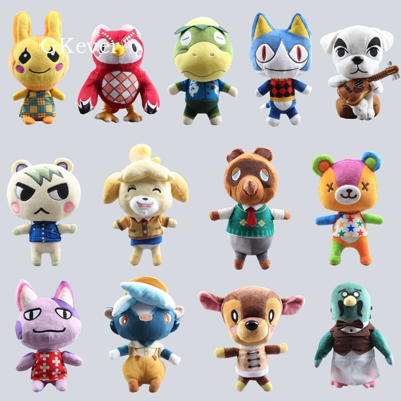 Animales de peluche bonitos K.K. Tom Nook 20cm Celeste Animal Crossing Porter Rover Bob Brewster Shizue Isabelle regalo de los niños