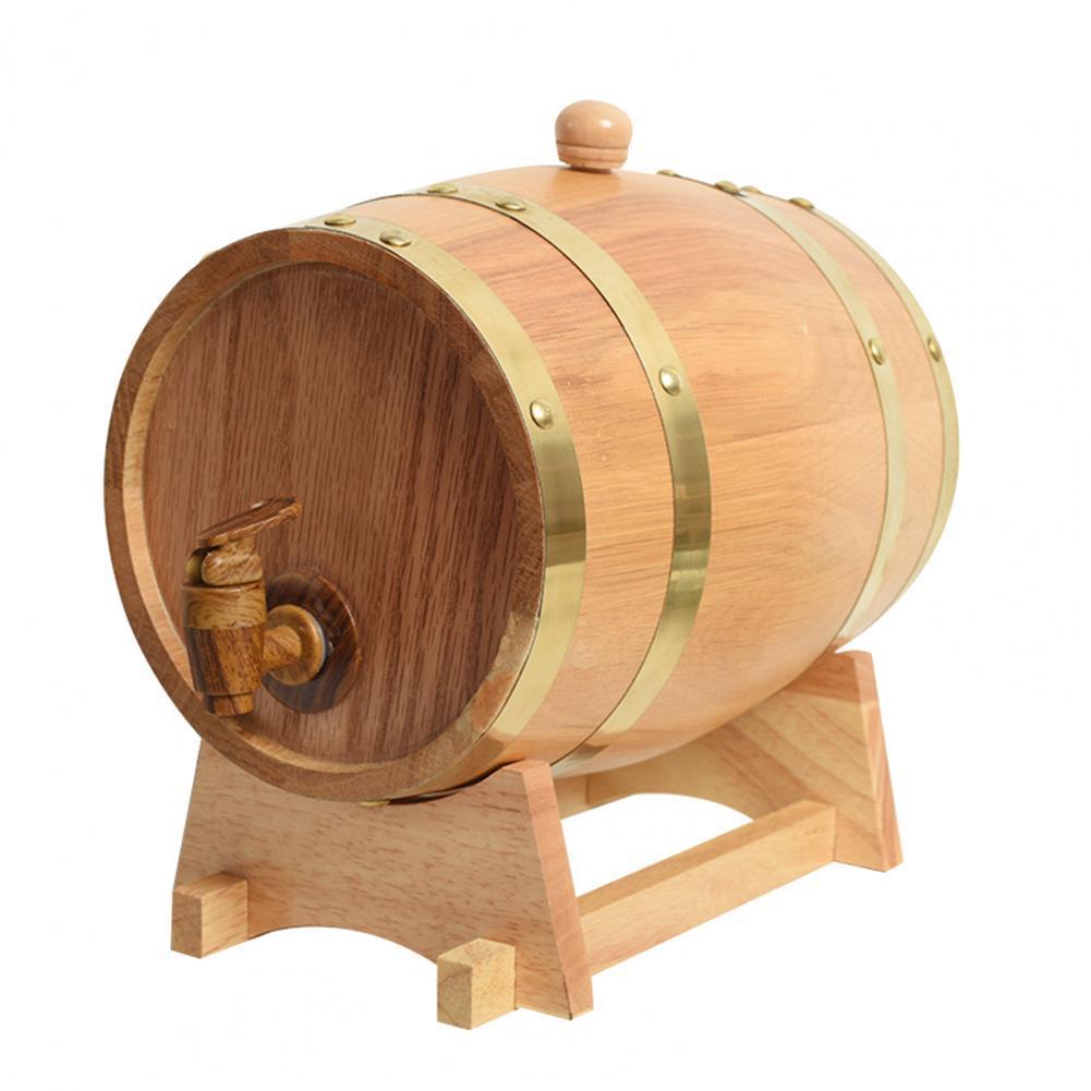 Деревянная бочка для вина, для напитков, пива, вместительный контейнер для хранения