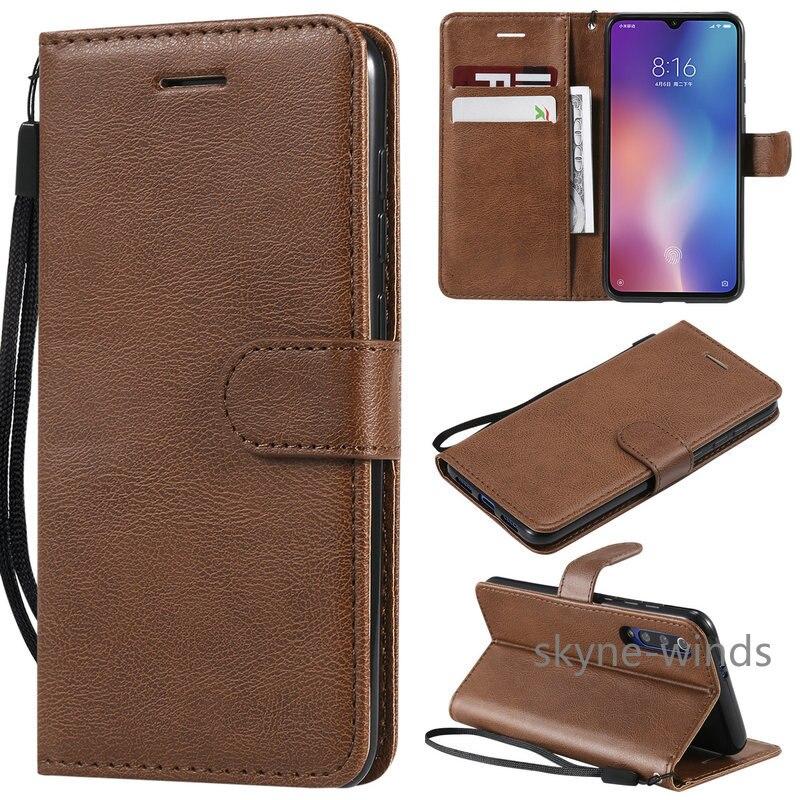 6.09'' Mi A 3 Flip Case for Xiaomi Mi A3 Case Plain Leather Wallet Card Slot for Funda Xiaomi MiA 3 Case MiA3 Shockproof Cover
