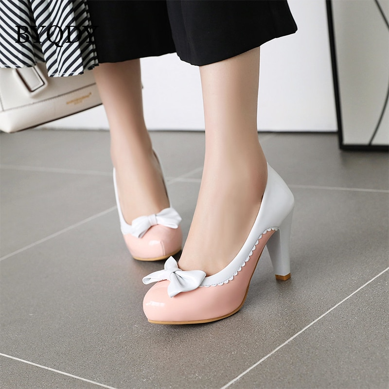 BYQDY-أحذية ربيعية بكعب عالٍ ، أحذية نسائية بكعب عالٍ ، بدون أربطة ، أحذية زفاف ، ماري جين ، بدون أربطة ، 2021