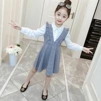 girls dress spring autumn plaid kids dress for girls long sleeve clothes princess dress fashion children dress 4 6 8 10 12 years