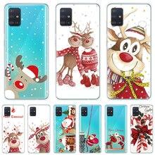 Noël Dessin Animé Pour Samsung Galaxy A71 A51 A70 A50 A40 A30 A10 A21 A90 A11 A41 A80 A5 A6 A7 A8 Plus 9 2018 Couverture Cadeau Wapiti