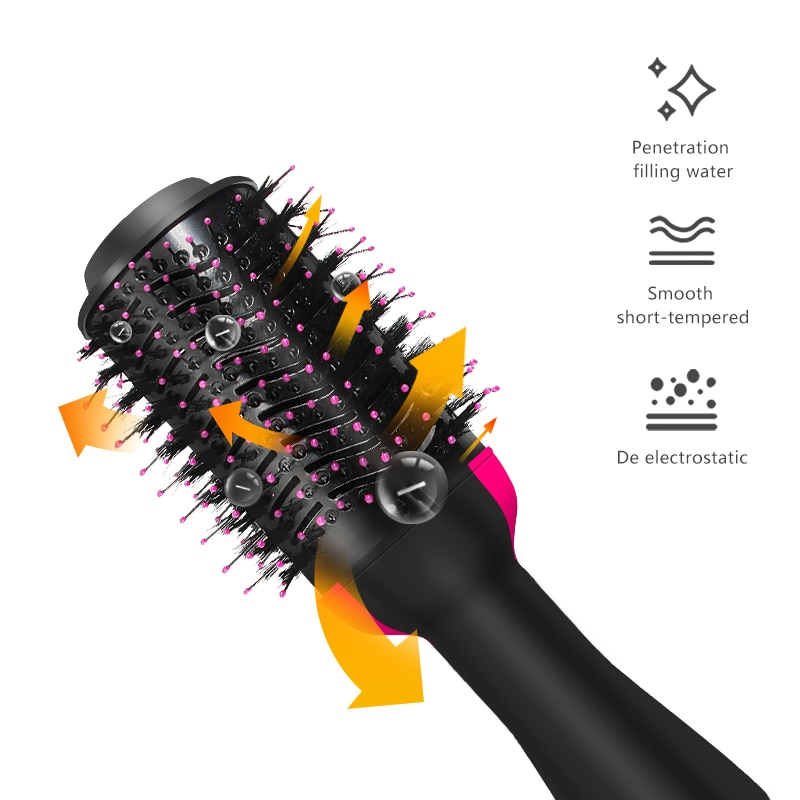 1000W Hair Dryer Brush Hair Dryer And Volumizer Hair Straightener Hair Curler Comb Roller One Step Electric Ion Blow Dryer GH4 enlarge