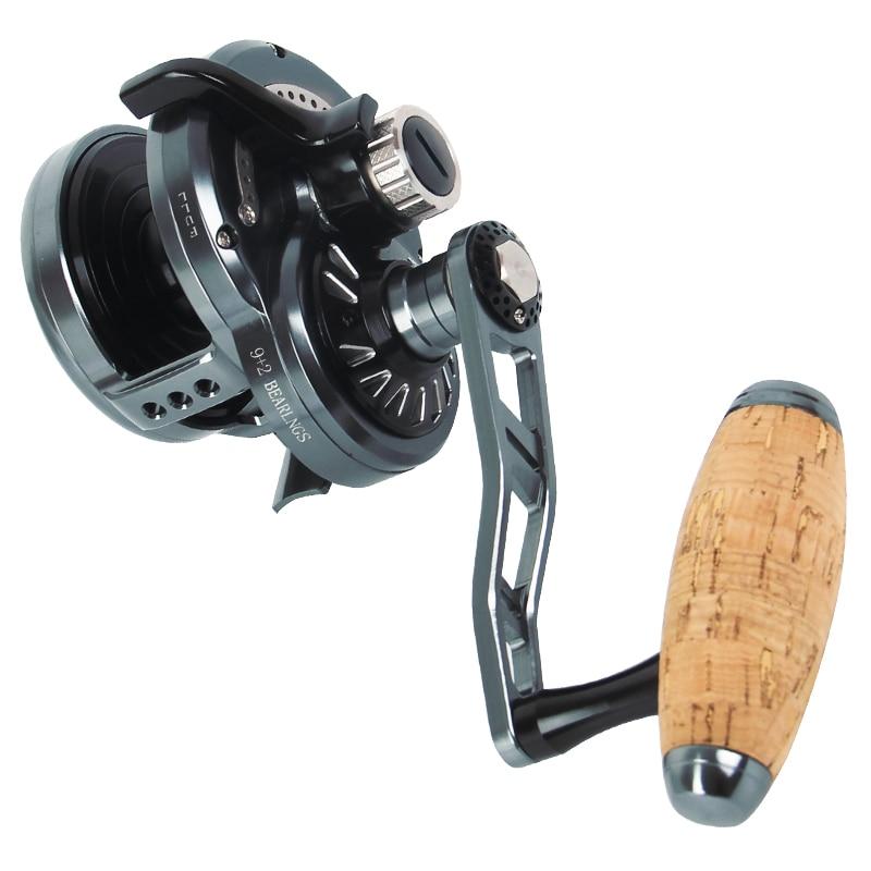 TF200/400 Casting Coil 6.3:1 Speed Sea Tournament Big Game Trolling Reel 30KG Drag Power Saltwater Jigging Deep Sea Fishing Reel