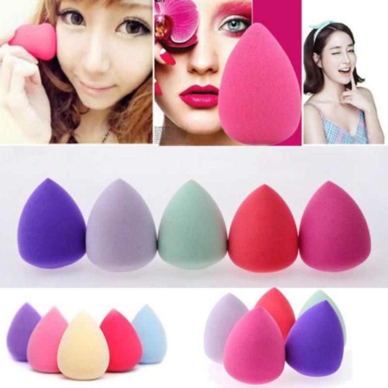Esponja suave para maquillaje, torunda de belleza para huevos, base en polvo suave, cosmética torunda, esponja de calabaza en gota de agua, útiles de maquillaje, 1 ud.