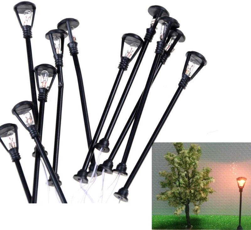 10 unids/set Mini lámpara de calle de decoración de hadas miniaturas de jardín terrarios con musgo escritorio botella jardín decoración de artesanía de resina