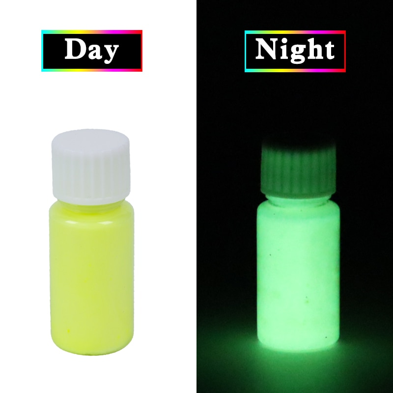 Luminous Paint Glow in the Dark Fluorescent Paint for Party Nail Decorations Art Craft 20g Yellow Phosphor Powder Acrylic Paint недорого