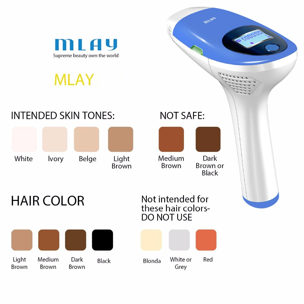 Mlay IPL Hair removal Epilator a Laser Permanent Hair Removal Machine Face Body 3IN1 Electric depilador a laser 500000 Flashes enlarge