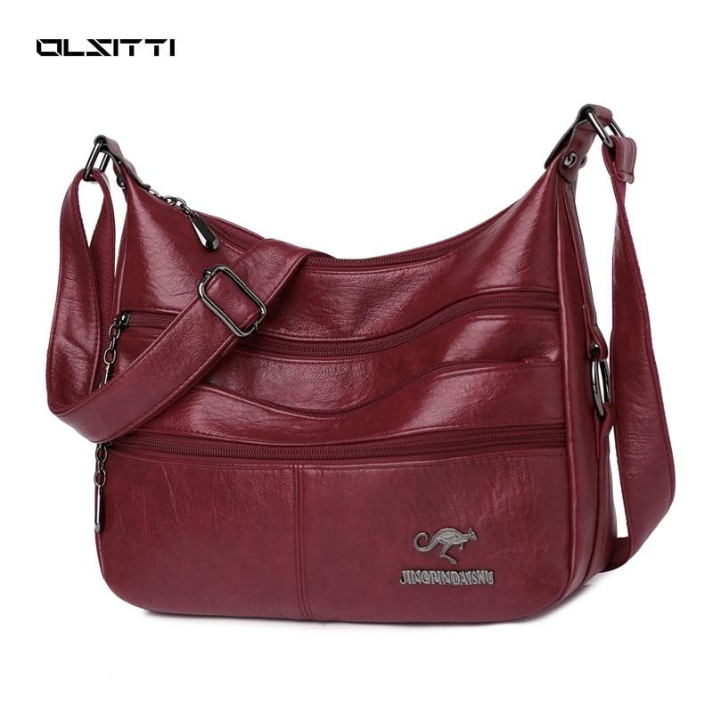 OLSITTI Fashion Casual Pu Leather Shoulder Bags for Women 2020 Fashion Shoulder Bags Female Crossbod