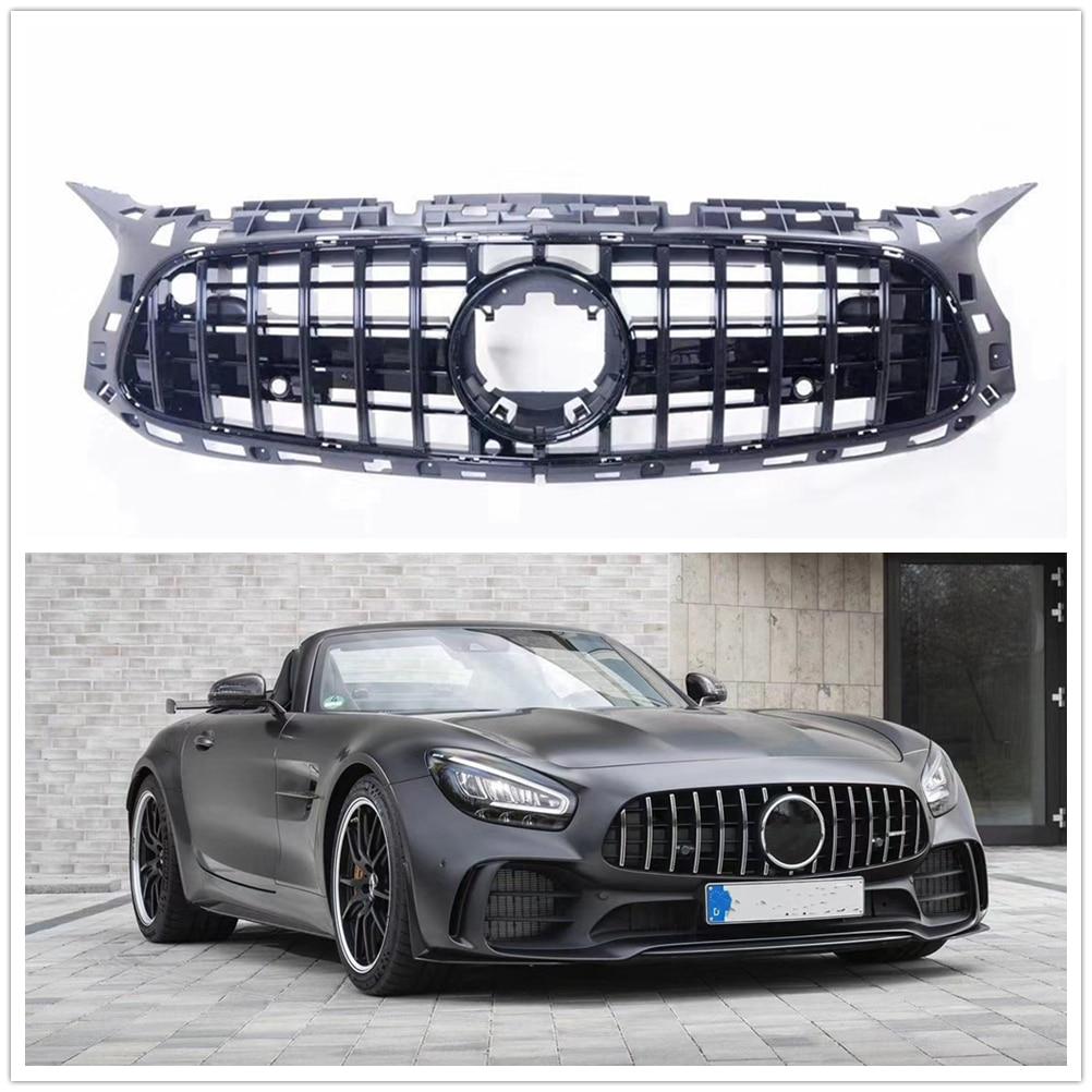 سباق الشوايات لمرسيدس بنز C190 2 الباب AMG GT R 2017 2018 2019 2020 سيارة سوداء استبدال كيت العلوي الجبهة الوفير مصبغة