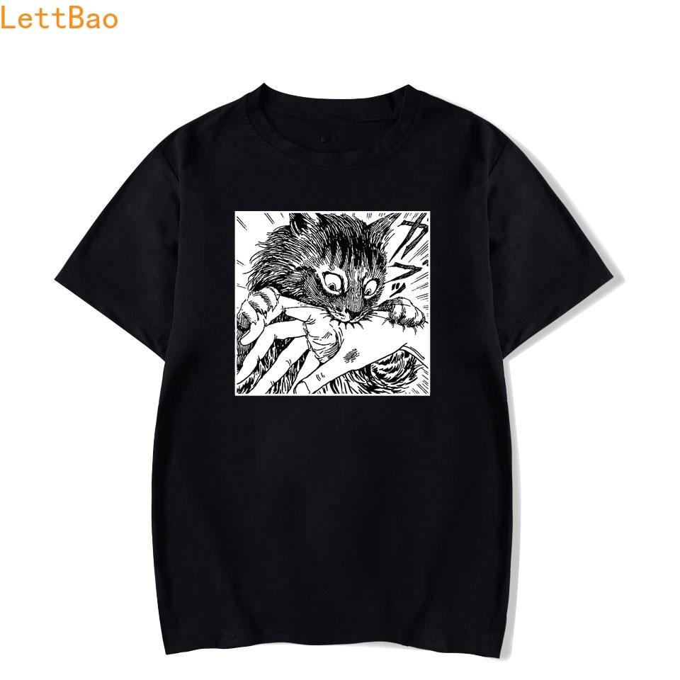 Tomie Junji Ito T-Shirt Men Unisex New Cartoon Design Men Tee Shirt Homme Summer Tops Short Sleeve Cotton Vogue Vintage Style