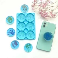 female heads mobile phone holder silicone epoxy resin mold phone grip decorations casting mould diy crafts plaster making tools