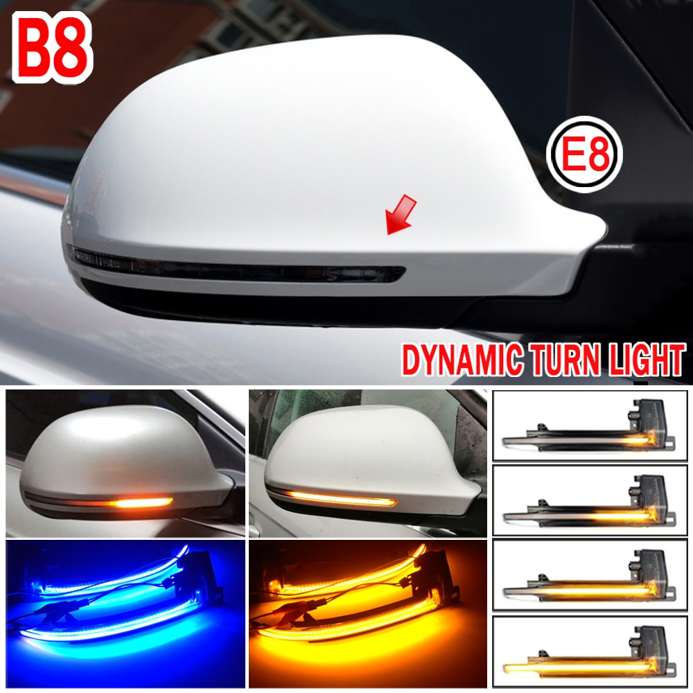 For Audi A4 A5 S4 S5 A3 B8 B8.5 A6 S6 A8 Q3 RS4 RS5 Dynamic Scroll LED Turn Signal Light Sequential Rearview Mirror Indicator