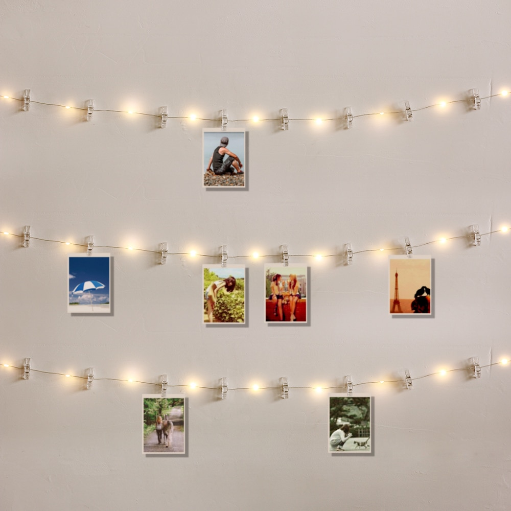 1m 2m 5m 10m fairy lights copper wire led string lights for christmas garland wedding party indoor room decoration battery usb 1M 2M 5M 10M Photo Clip LED String Lights Fairy Lights USB/Battery for Garland Party Wedding Xmas Christmas Decoration