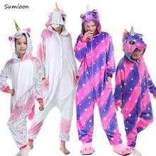 Kigurumi Einhorn Pyjamas Für Jungen Mädchen Frauen Pyjamas Anzug Onesie Erwachsene Tier Panda Stich Cat Nachtwäsche Cosplay Pyjamas Kinder