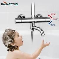 Mitigeur pour robinets de douche thermostatiques  pour baignoire chaude et froide  mitigeur mural  controle en laiton  pluie