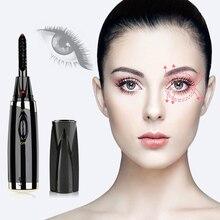 1Pc Portable Electric Heated Eyelash Curler With Eyelashes Brush Pen Shape Head Mascara Long Lasting Curling Makeup Tool
