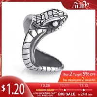 2020 inoxidable stainless steel ring exaggerated snake head ring cobra jewelry 7 13 yards punk rock ring animal jewelry