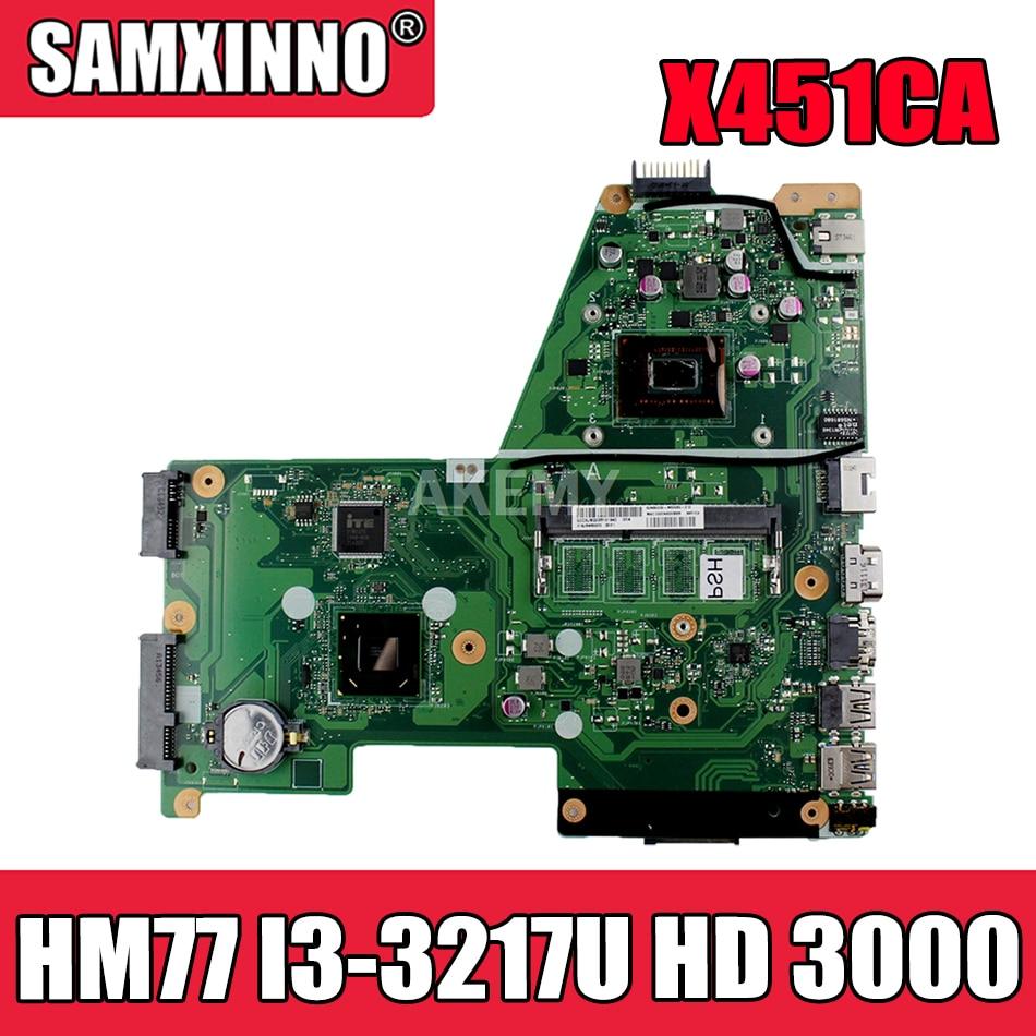 Akemy اللوحة لابتوب Asus X451CA F451 F451C X451CA اللوحة REV.2.1 HM77 SR0N9 I3-3217U GMA HD 3000
