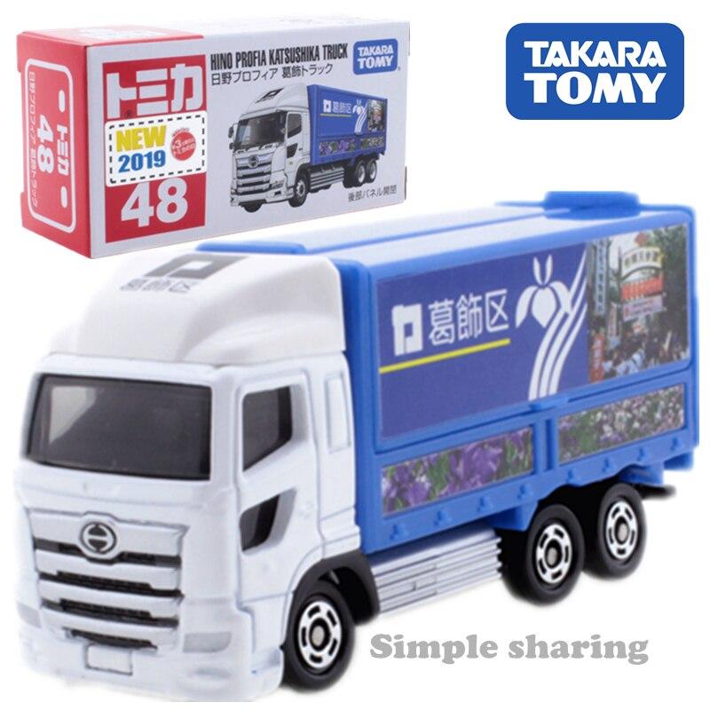 Takara-tomy tomica n. ° 48 hino profia katsushika camión modelo diecast miniatura juguete para llevar pop metal juguetes para bebés magic kids Adorno