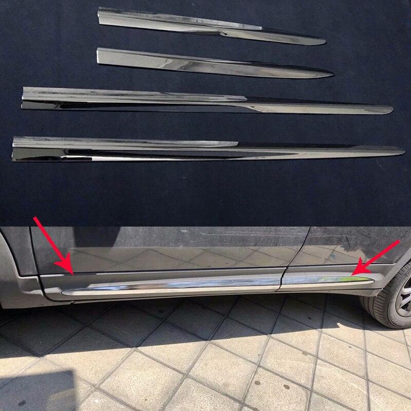 ABS cromo accesorios lado tiras Trim cubierta para Fiat 500X 2015, 2016, 2017, 2018 puerta, carrocería de 4 Uds