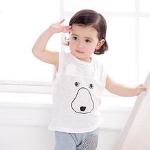 Enfants neutre t-shirt style décontracté été bébé couverture en coton enfant en bas âge vêtements enfants unisexe vêtements Expression court sans manches