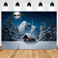 christmas tree winter snowflake forest mountain nature scenery photography backdrop vinyl photographic background photocall prop