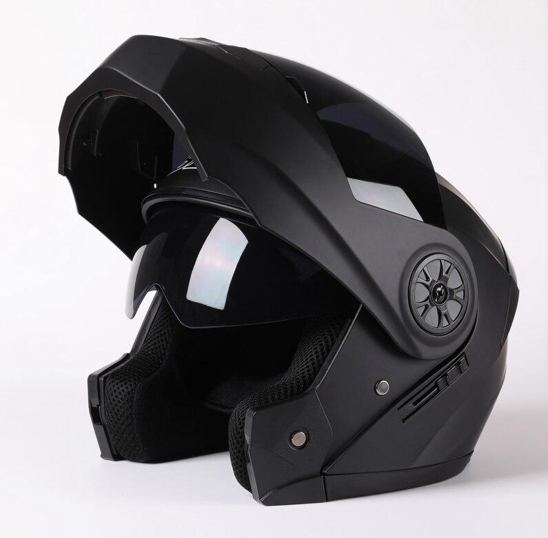 2020 New Arrival Men Motorcycle Professional Racing Flip Up Helmet ABS Material Modular Dual Lens Helmets DOT Certification