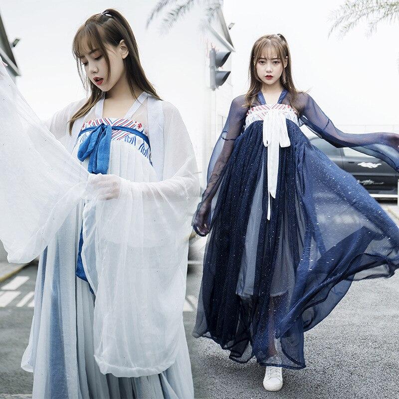 فستان صيني تقليدي للنساء ، تشيباو ، هانفو ، شيونغسام ، زي هانفو التنكري ، ساتان ، زي خرافي نجمة