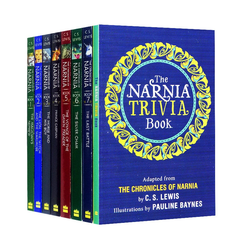 8 Books The Chronicles of Narnia Box Set Original Children Books Kids English Reading Story Chapter Book Novels Young Adult