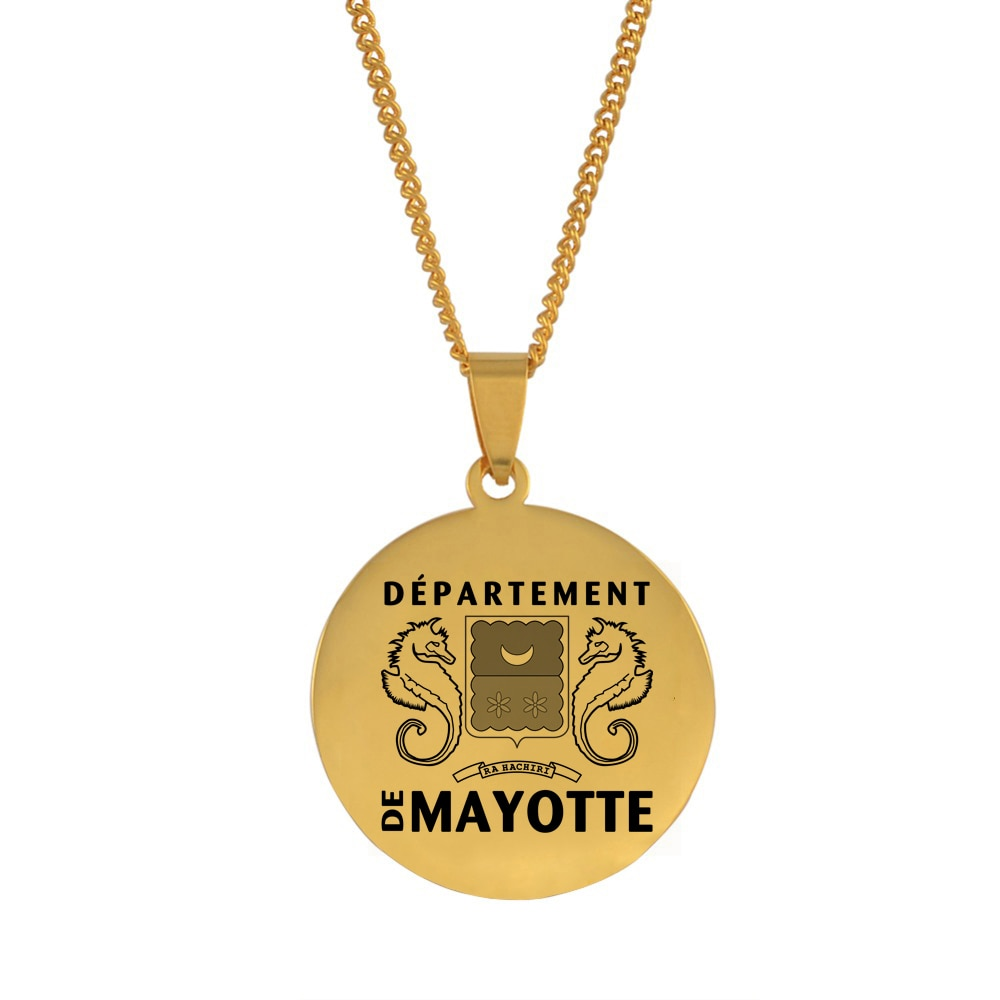 Anniyo redondo mayotte pingente colares para mulher mahore jóias #147121