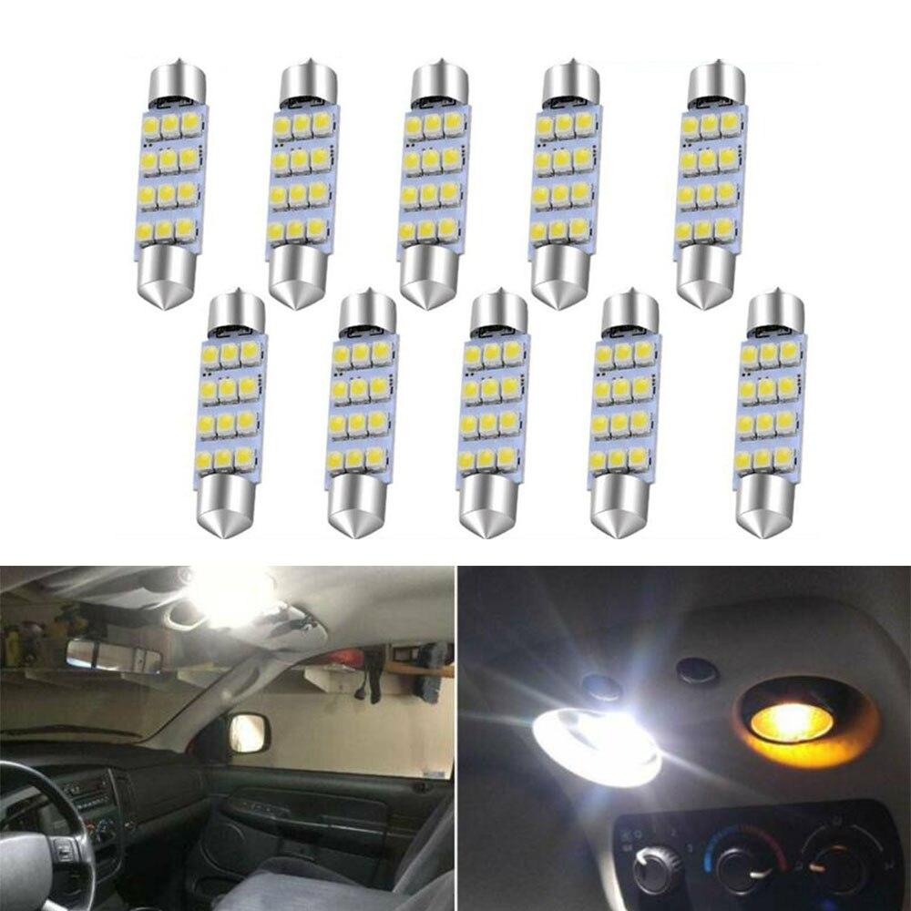 42 MILÍMETROS Luzes 211 12 Interior Light Bulb 6000K Branco 578 V 1210 Chips de LED