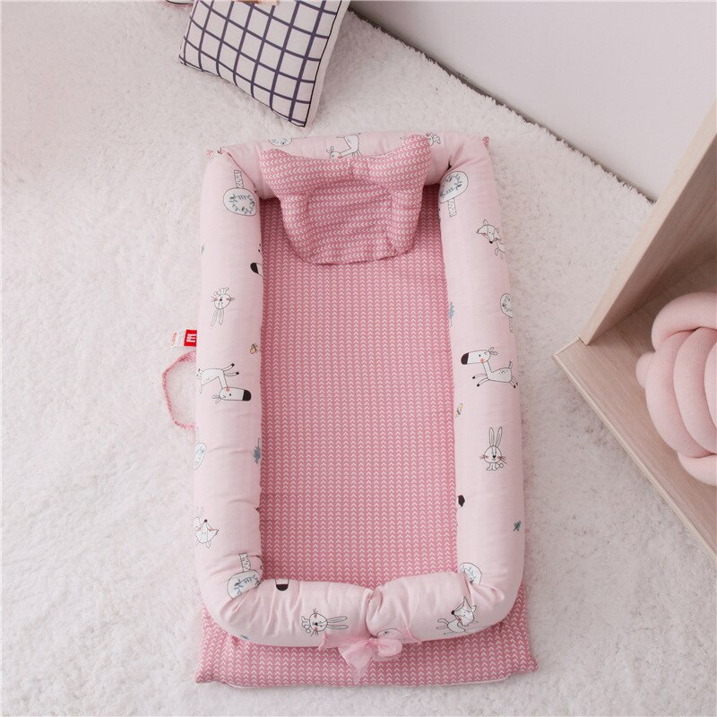 Double-layer yarn bed in bed without quilt, baby crib, multifunctional infant and newborn bionic mattress 90-50-15cm