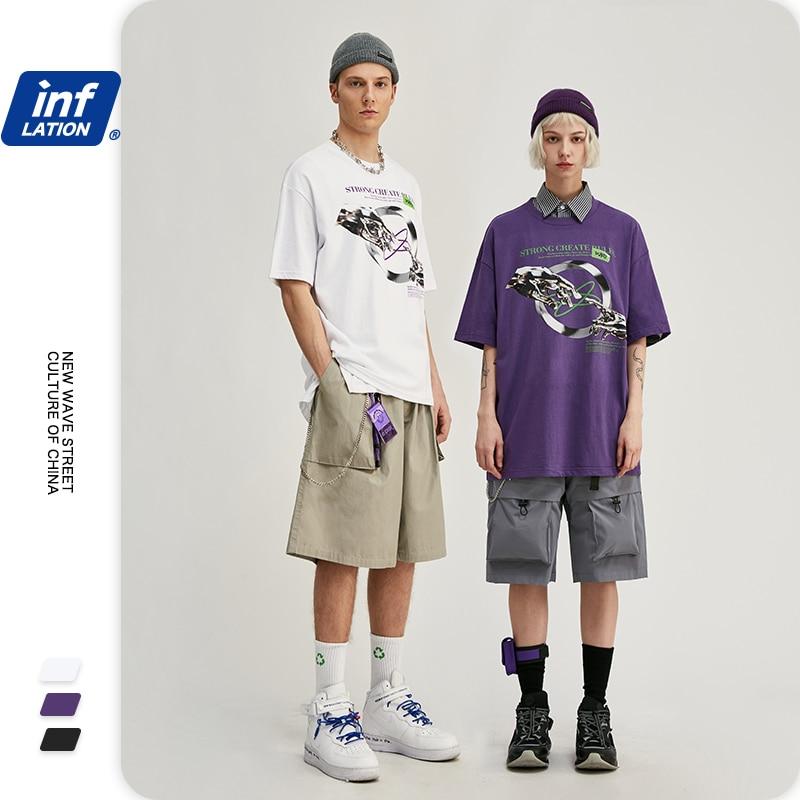 Camiseta de algodón de gran tamaño a la moda para hombre, camiseta de Hip Hop, camisetas de verano para hombre, camiseta divertida con estampado 1163S20