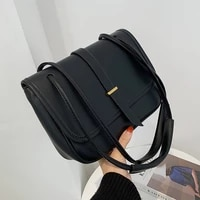 soft leather flap shoulder bag daily lady elegant crossbody handbag casual multi layer envelope bag solid color underarm bag sac