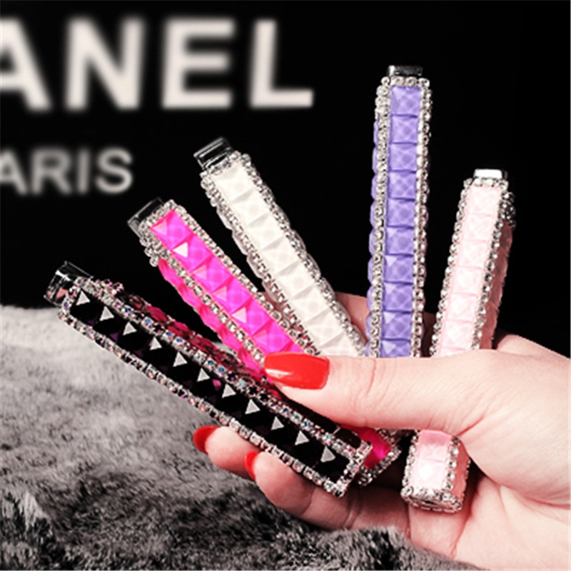 Butane Open Flame Lighter Gorgeous Diamond Ladies Lipstick Cigarette Lighter Easy To Carry Cigarette Accessories Small Gifts enlarge